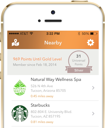 Dualswipe uses your current location to list nearby stores - just select one and go.